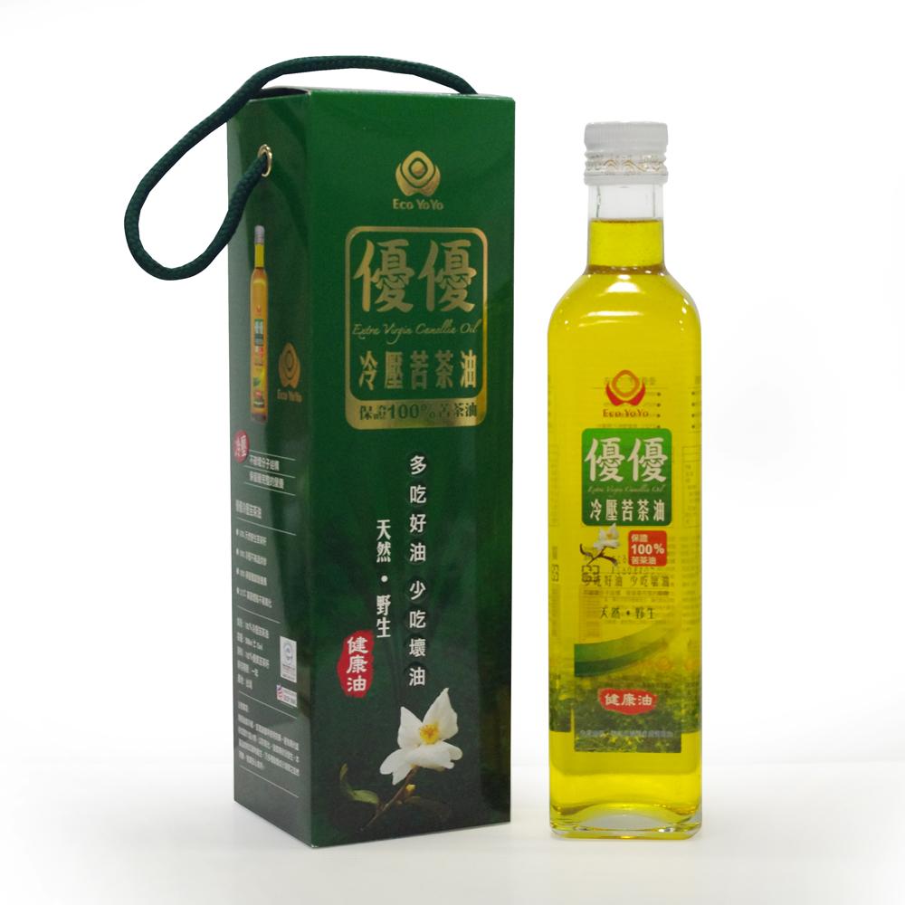 【農漁會超市中心】優優冷壓苦茶油(每瓶500ml)