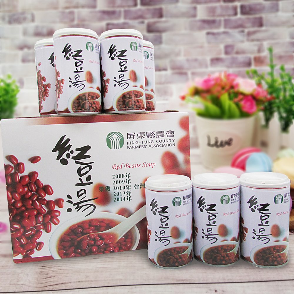 【屏東縣農會】紅豆湯12入裝(每罐320g)
