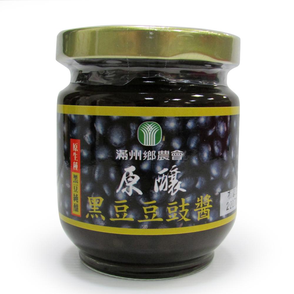 【滿州鄉農會】原釀有機黑豆豆鼓醬(每罐180g)