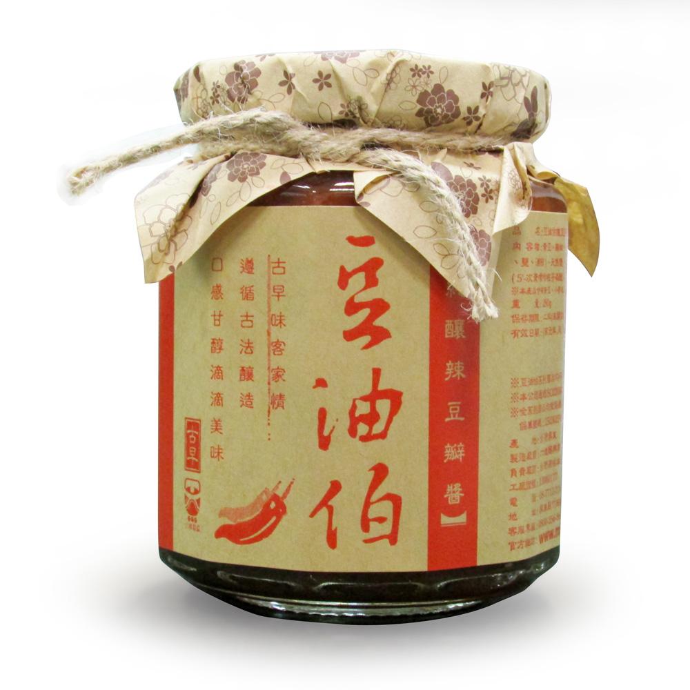 【農漁會超市中心】豆油伯辣豆瓣醬3罐(每罐280g)(含運)