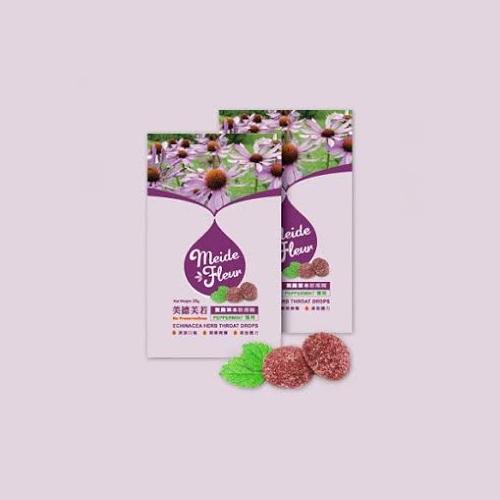 【美德芙若】紫錐草本軟喉糖18包(每包20克)(免運)