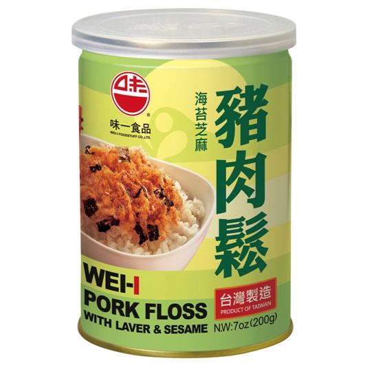 【味一食品】海苔芝麻豬肉鬆6罐組(200g易開罐)(免運)