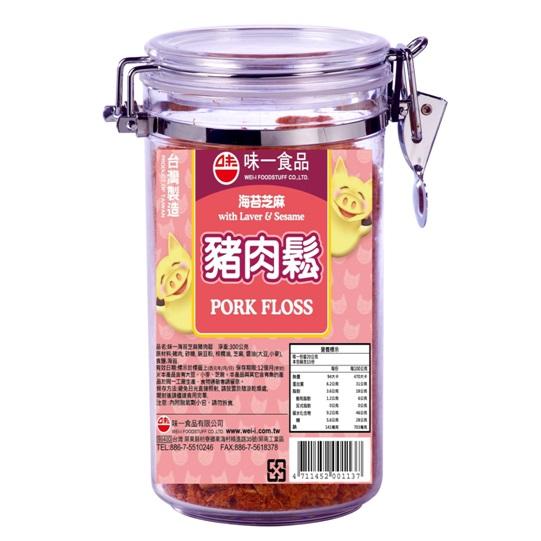 【味一食品】海苔芝麻豬肉鬆3罐入(300g密封罐)(免運)