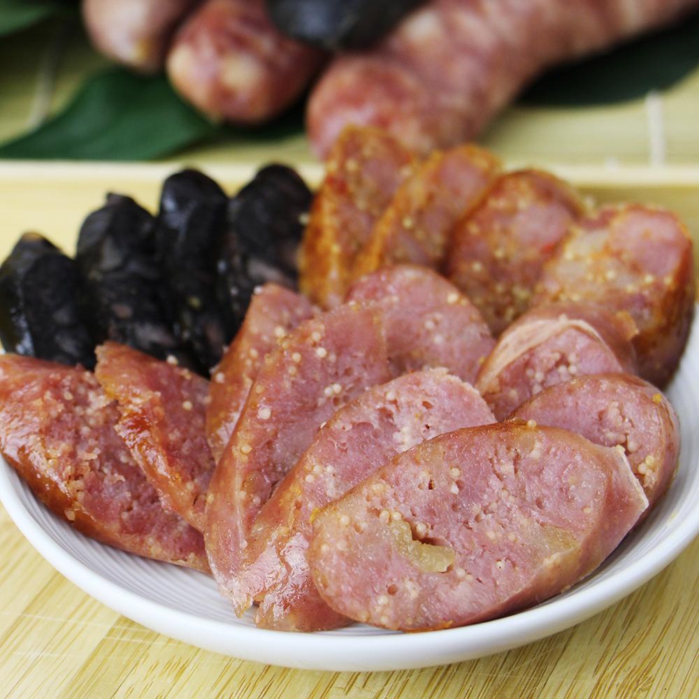【阿里棒棒】飛魚卵香腸9包組(每包300g) (口味:原味、墨魚)(含運)