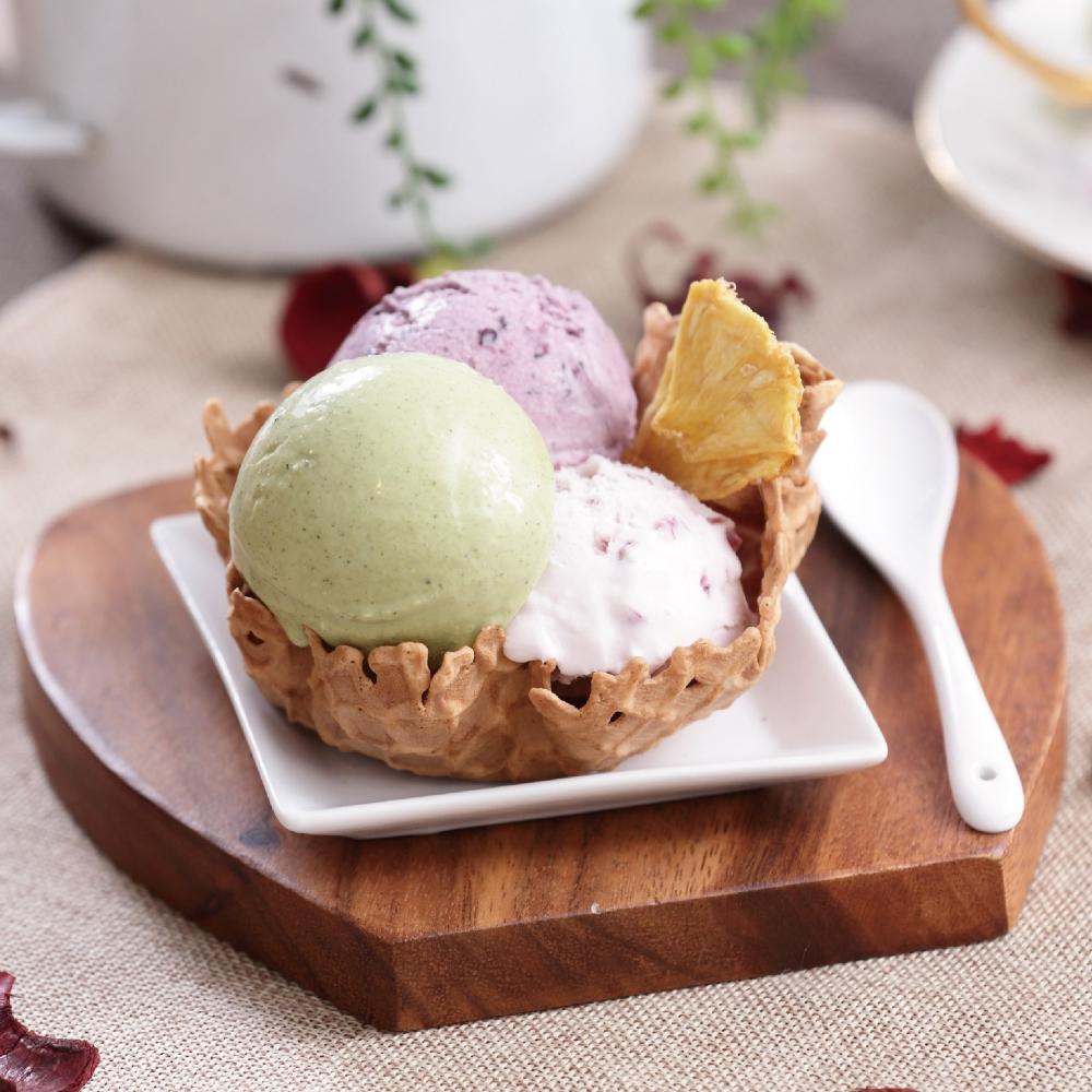 【蜜朵麗】精選綜合冰淇淋18入組(紫米醉香*5+檸檬碧螺春*5+橘子巧克力*4+蜜香紅茶*4)(免運)