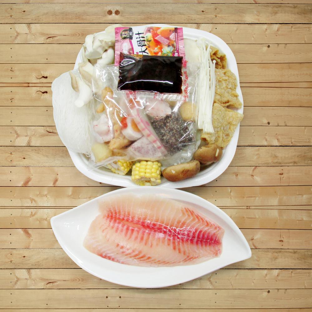 【陽光農業】輕鬆煮鯛魚鍋 3盒(1200g±5g/盒)(含運)
