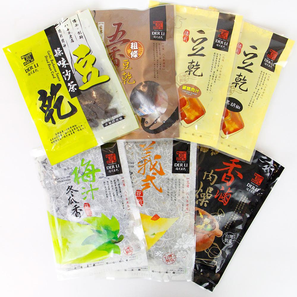【德利豆乾】德利豆乾系列7包不同口味 1組(每包130g)(含運)