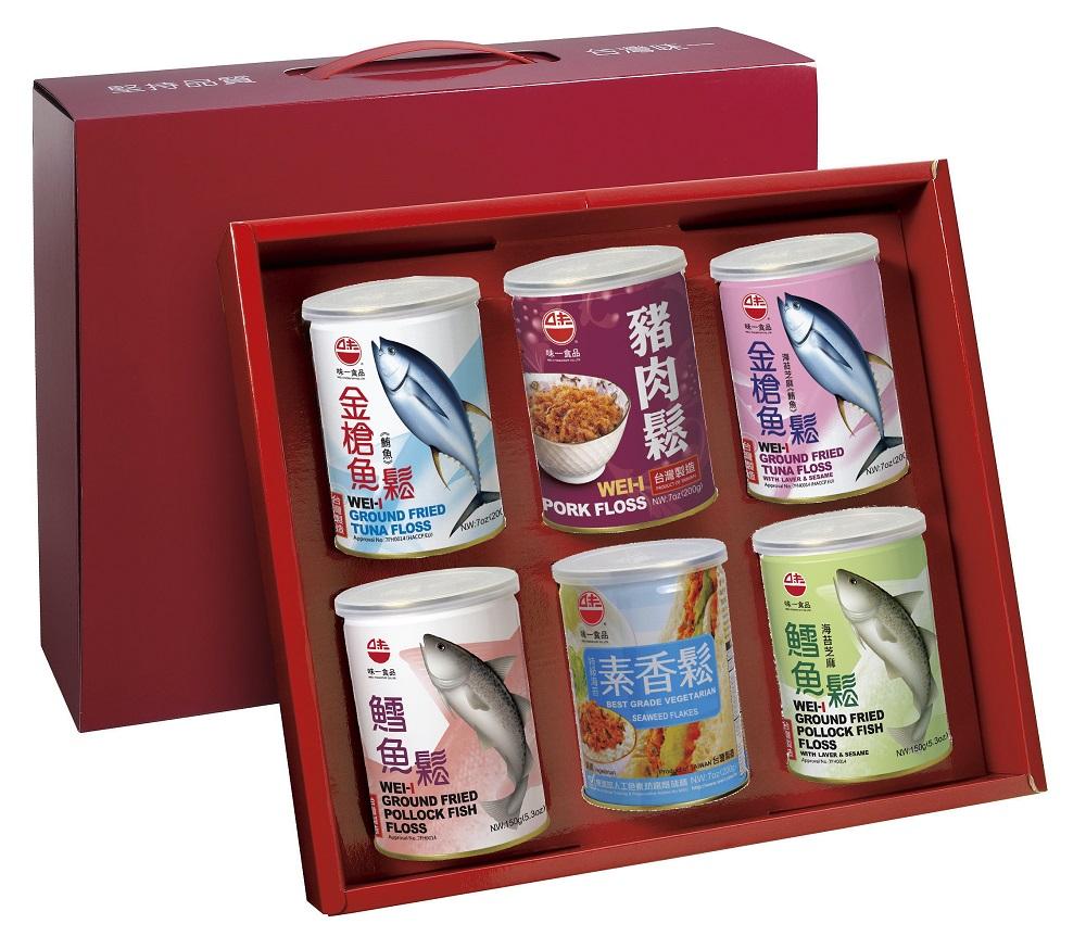 【味一食品】如意禮盒六入組(200G易開罐)(免運)