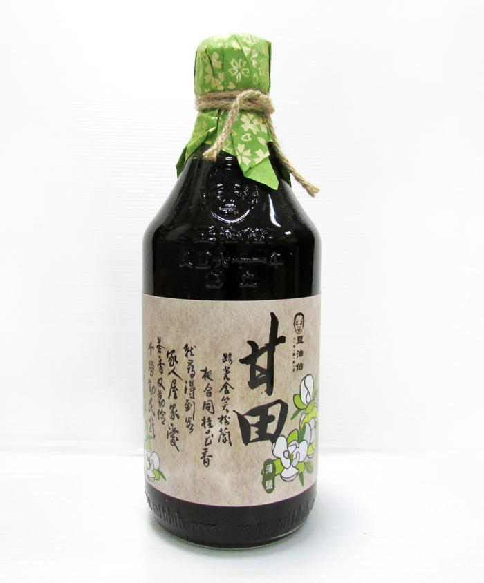 【農漁會超市中心】豆油伯甘田醬油(薄鹽)2瓶(每瓶500ml)(含運)