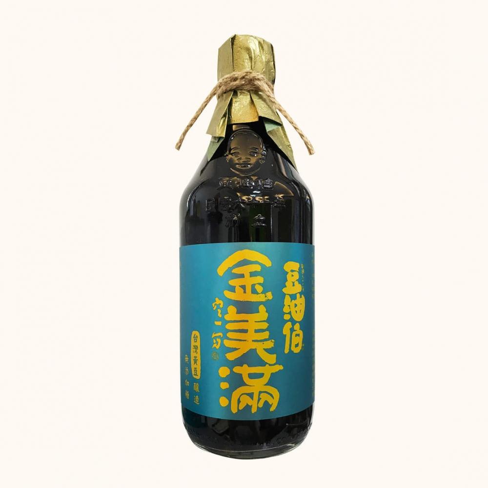 【農漁會超市中心】豆油伯金美滿無添加糖黃豆醬油2瓶(每瓶500ml)(含運)