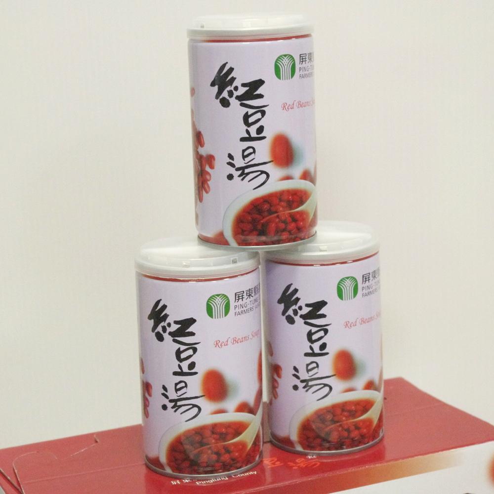 【農漁會超市中心】屏東縣農會紅豆湯3組(每組12入、每罐320g)(含運)