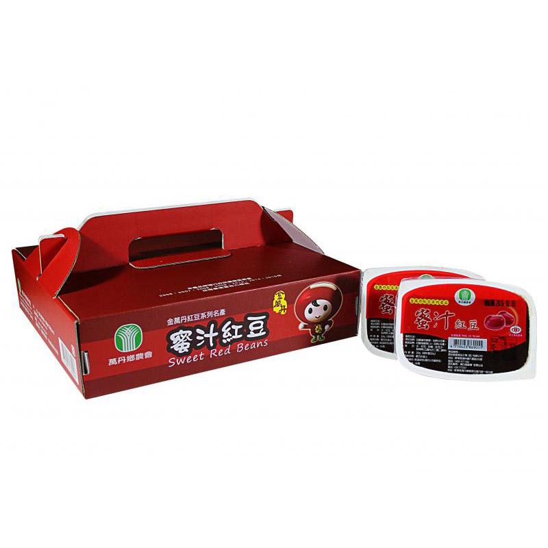 【農漁會超市中心】萬丹鄉農會蜜汁紅豆禮盒2盒(每盒12入)(含運)
