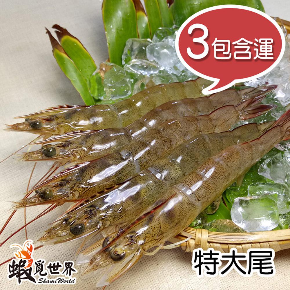 【蝦覓世界】3包含運組_特大尾-生鮮急凍白蝦