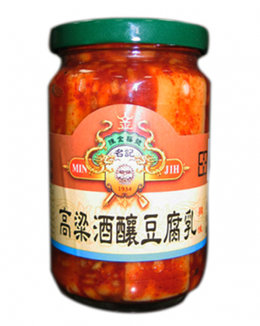 【農漁會超市中心】陳金福酒釀辣味豆腐乳(每罐380g)