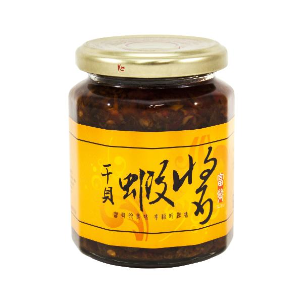 【農漁會超市中心】富發干貝蝦醬(每罐265g)